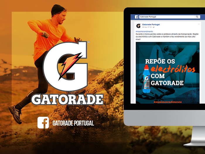 Facebook de Gatorade Portugal gerida pela WayNext