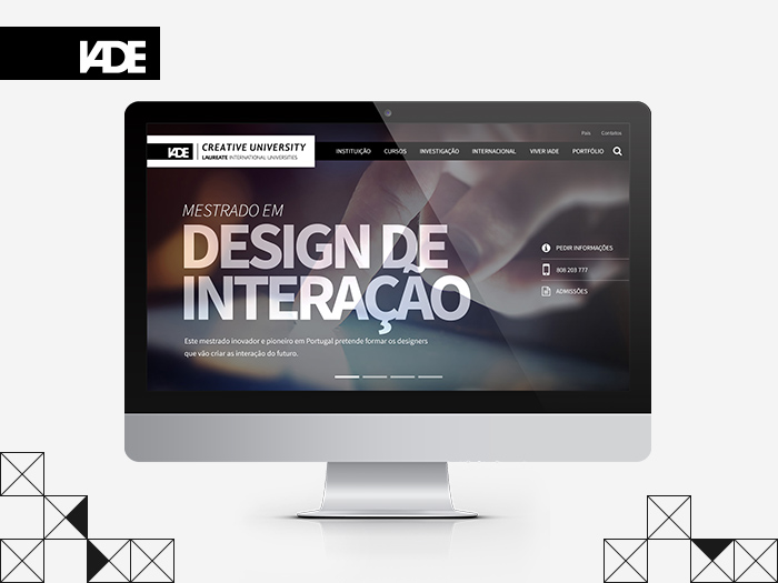Ecrã inicial do Site do IADE criado pela WayNext - digital agency