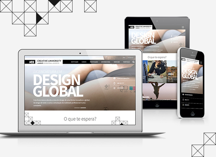 Site responsive do IADE criado pela WayNext - digital agency