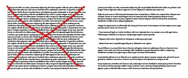 Copywriting: evitar paredes de texto