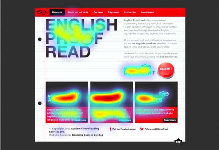 Estudos de eye-tracking mostram que conteúdo com imagens é mais relevante o que é informação importante para copywriting