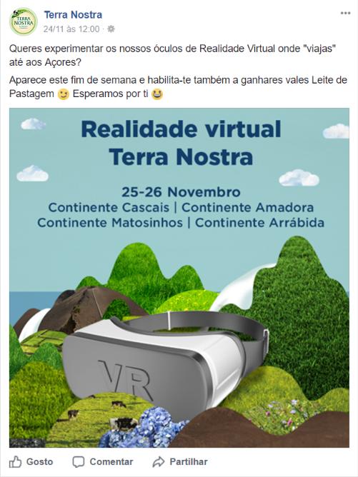 Realidade virtual Terra Nostra